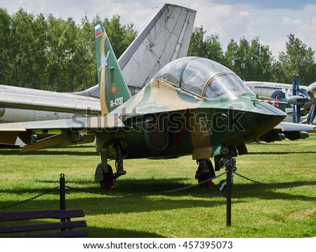 Russia, Moscow region, Monino. 24.06.16. Central Air Force Museum, museum exhibits and parts of aircraft. Shallow depth of field. Illustrative photo