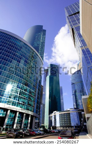 Russia, Moscow, September 17, 2014: skyscrapers of the business center Moscow City