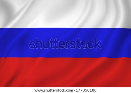 Russia national flag background texture. - stock photo