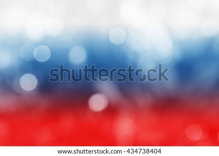 RUSSIA : National flag. Soft blurred bokeh natural background. Abstract gradient desktop wallpaper. - stock photo