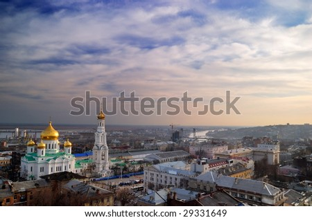Russia. Rostov-on-Don. A cathedral of the Virgin. Evening