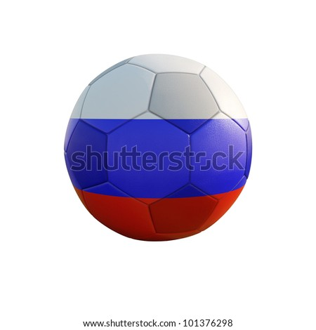 russia soccer ball isolated on white - stock photo