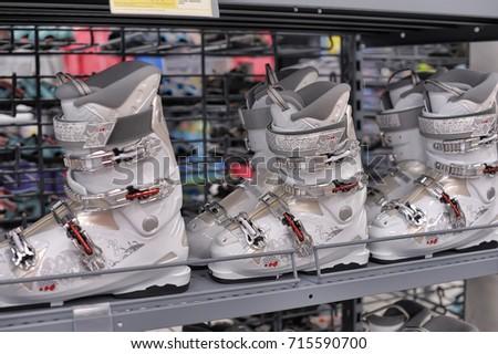 ski shop display ski rack stock images royalty free images vectors shutterstock