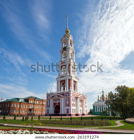 Russia. Tambov city. Bell Tower of Kazan Monastery - stock photo