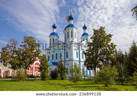 Russia. Tambov city. Cathedral of Our Lady of Kazan in Monastery - stock photo