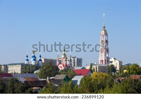 Russia. Tambov. View of the Kazan Monastery - stock photo
