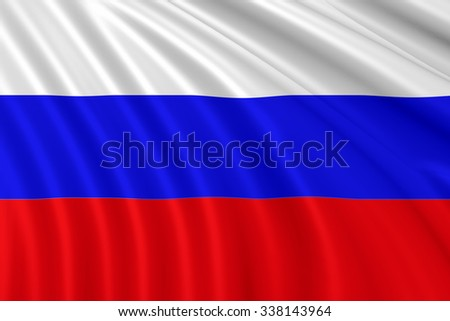 Russia waving flag 3d - stock photo