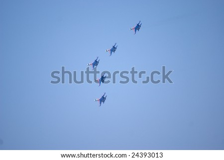 Russian Airplane in the Airshow