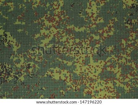 Russian digital camouflage (digit) - green, brown, black - stock photo