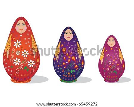 Russian dolls - stock photo