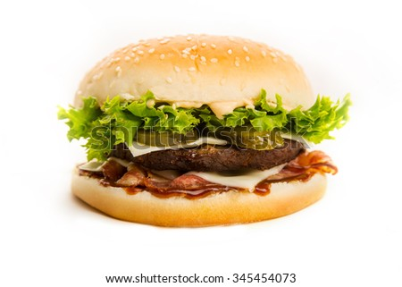 Russian hot delicious hamburger