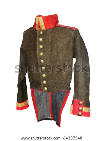 Russian military full-dress uniform of a 20 age - stock photo