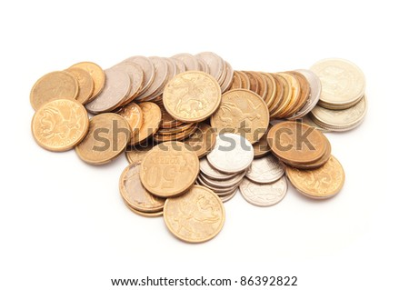 russian money on a white background
