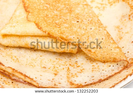 Russian pancakes as background