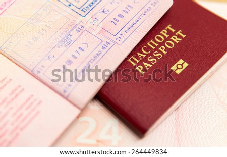 Russian passports - stock photo