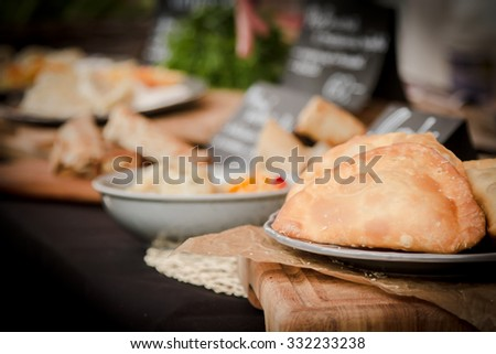 Russian pasties with dill green - stock photo