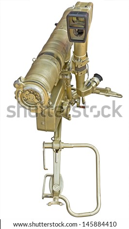 russian rocket launcher isolated over white background