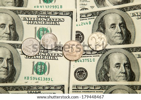 Russian rubles and U.S. dollars