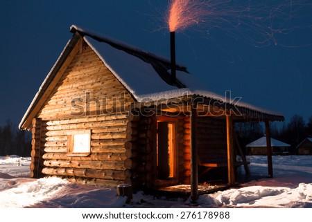 Russian sauna - stock photo