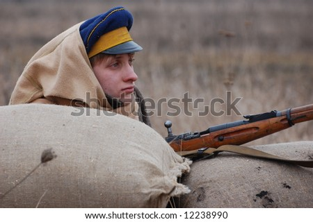 Russian soldier 1918. Reenacting