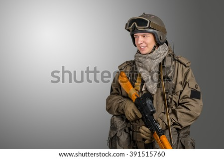 Russian special forces soldier