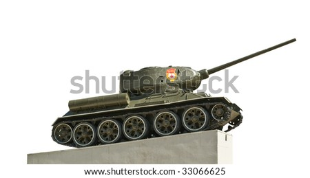 Russian tank isolated T-34