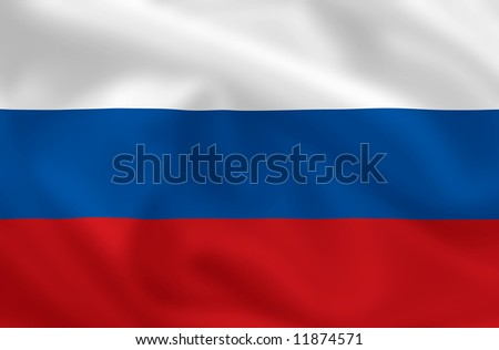 Russian waving flag - stock photo