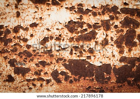 Rust background, Center focus - stock photo