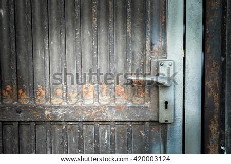 rust door background - stock photo