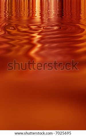 Rust fall colored vibrant metallic paint pool abstract background - stock photo