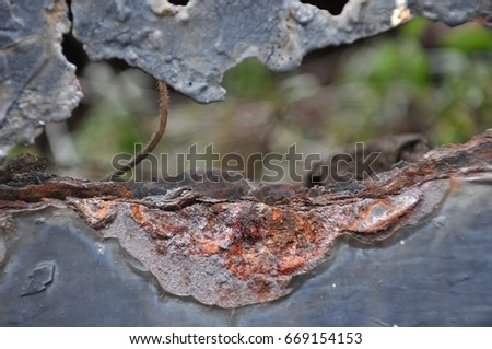 rust metal, damage of Rust and Corrosion background