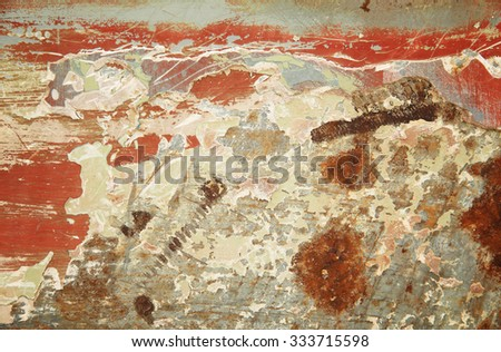 Rust metal plate for texture and background - stock photo