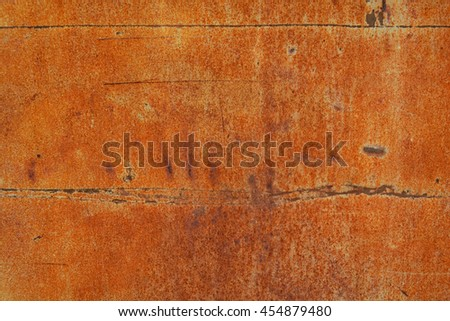 rust on steel color background