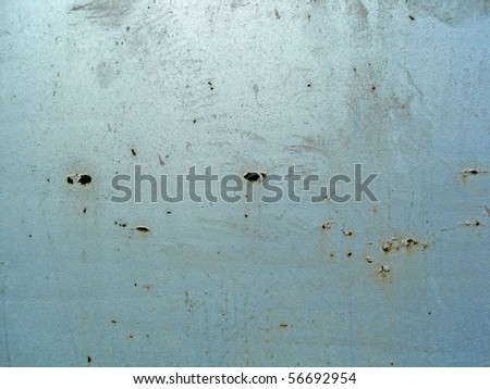 Rust on surface of the painted metal - stock photo