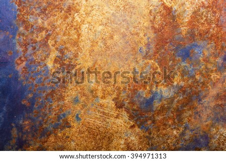 Rust on the metal as a background.