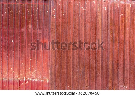 rust on the old zinc plate