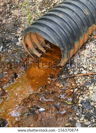 rust pollution - stock photo