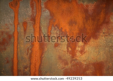 Rust stained metal background