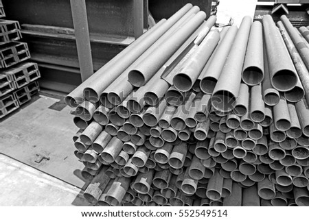 Rust steel pipe for raw material of steel tower in transmission line