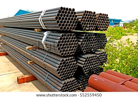 Rust steel pipes for raw material in transmission line