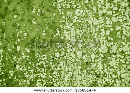 rust texture green tones - stock photo