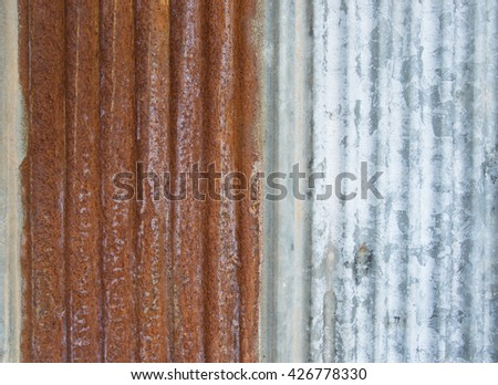 Rusted galvanized  background - stock photo