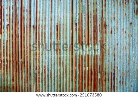Rusted galvanized iron plate - stock photo