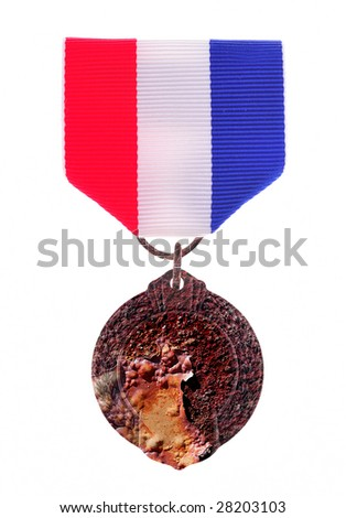 rusted medal