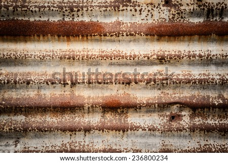Rusted metal corrugated metal background - stock photo