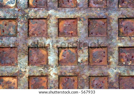 Rusted metal surface. - stock photo
