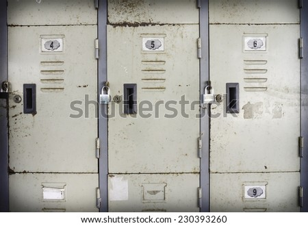 Rusted old lockers - stock photo