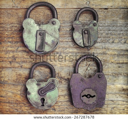 Rusted Padlocks - stock photo