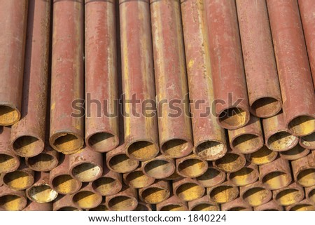 Rusted pipes.