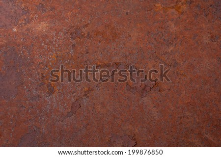 Rusted sheet of metal - stock photo